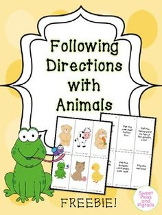 I don't know about you but I'm always trying to think of directions for my kids to follow, and sometimes it's hard to think of them on the spot. This packet includes 48 animal-themed following directions! Print, cut, and laminate all cards. Lay the animal cards out in front of the student and give them a direction to follow based on their