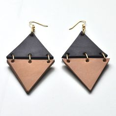 Leather jewellery by Canoe  Image of Magnitude Earrings