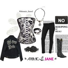 Not YOURS: Your style can make a point and be fashionable with the right corset and add ons. @Atomic_Jane1