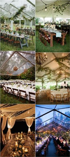 Rustic Tented Wedding Reception Ideas - Deer Pearl Flowers