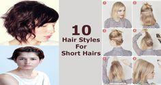 10 Hair Styles for Short Hairs Messy Hairstyles, Curls, Short Hair Styles, That Look, Medium, Bob Styles, Messy Hairstyle, Short Length Haircuts, Short Hairstyles
