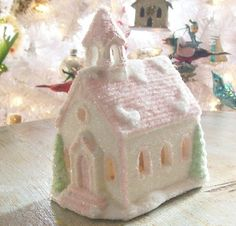 pastel christmas village - Google Search
