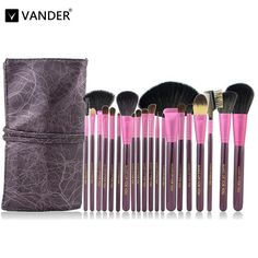 17.81$  Watch now - http://aliw5j.shopchina.info/go.php?t=32794194306 - Vander 20pcs/Set Professional Wood Handle Makeup Brushes Foundation Blush Powder Facial Eye Synthetic Hair Cosmetic Kits Purple 17.81$ #SHOPPING