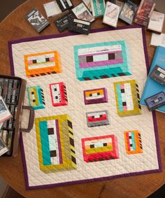 I'm speechless. This mini quilt is beyond awesome. It makes me think that I should be rethinking the baby quilt I am planning for a friend.  WEB-with-tapes-IMG_3433