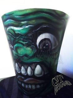 Ghostbuster Slimer Airbrush by GT Artland
