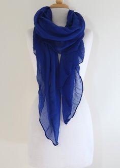 Belle Scarf in Royal Blue   sophari