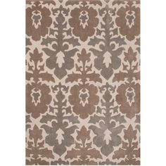 Jaipur Devine Pices Hand-Tufted Rug ($57) ❤ liked on Polyvore featuring home, rugs, polyester rugs, jaipur rugs, transitional rugs, grey area rug and transitional area rugs