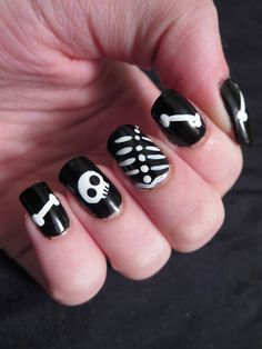 Bizarre Obsessions~ Halloween Series: Skeleton Nails