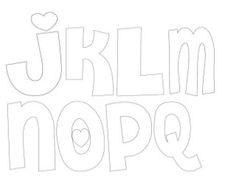 Letras abecedario moldes Alphabet Letters To Print, Bubble Letters, Book Letters, Printable Letters, Alphabet And Numbers, Alphabet Templates, Alphabet Stencils, Applique Templates, Felt Name Banner