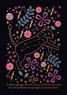 Carly Watts Illustration: Leo #stars #constellation #space #leo