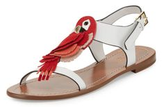Kate Spade Parrot T-Strap Statement Sandals