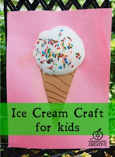 I take sprinkles with mine! Yeah for ice cream inspired summer crafts!
