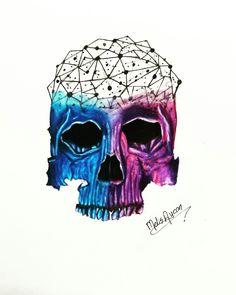 Galaxy skull  #skull #drawing #galaxy #tattoo
