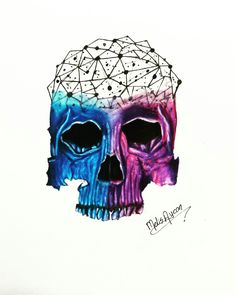 Galaxy skull  #skull #drawing #galaxy #tattoo