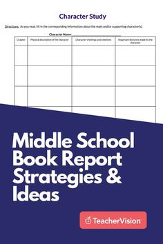 Use these middle school book report strategies and ideas in this packet to help your students get more out of their reading and write better book reports. These book report strategies can be applied to any work of fiction, and the editable worksheets focus on collecting and organizing the most important plot and character information. Reading Resources, Reading Skills, Book Study, Writing A Book, Middle School Books, Sequencing Worksheets, Feelings And Emotions, Character Names, Learn To Read
