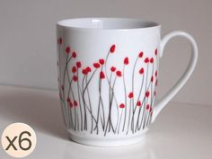 Dieser Becher wird ausschließlich in Frankreich hergestellt. Wahre Limoges-Porzellan, handbemalt von mir. Sein Motiv ist Blumen Mohn mit minimalistischem Design gefertigt. Handbemalt, jede Tasse ist einzigartig und das Gelände können leicht abweichen vom Foto (Stil ihn natürlich