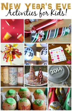 New year's eve activities for kids - countdown activities. Christmas Trees For Kids, Christmas And New Year, Christmas Eve, Xmas, New Year's Eve Activities, New Year's Games, Crafts For Kids To Make, Kids Crafts, New Year Celebration