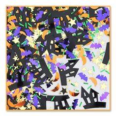 Throw Halloween confetti! #partycheap #Halloween #cheap