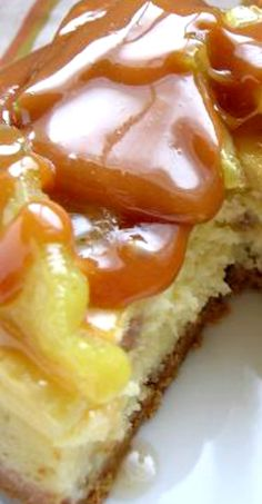 Caramel Apple Toffee Cheesecake