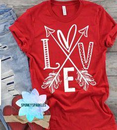 Valentines Day Shirts, Happy Valentines Day, Arrow Shirts, Love Shirt, Vinyl Shirts, Cute Tshirts, Shirts For Girls, Shirt Designs, School Shirts