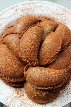 Chocolate empanadas with dulce de leche filling