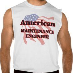 American Maintenance Engineer Sleeveless Shirt Tank Tops
