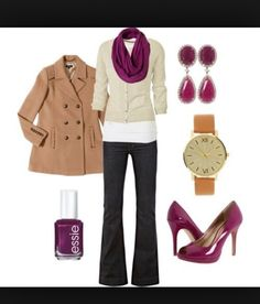 Like the scarf, sweater, jeans and shoes, and overall style. The coat isn't really me, and long tees don't work since I have a short torso and hourglass shape.