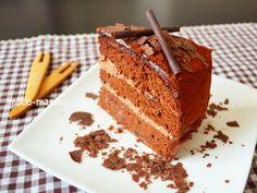 バレンタインに喜ばれるアイデア♡2種類のガナッシュクリームのチョコレートケーキ