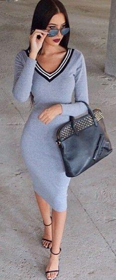 Striped Splicing Dress