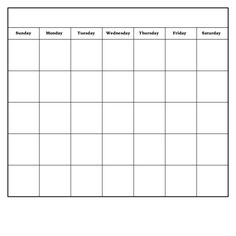 Create your own calendar with this fill in the blank calendar ...