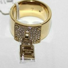 Suze 7 Michael Kors Padlick Ring Size 7 Michael Kors Padlock Ring Brand New  Trying to trade for MK stuff or the same Ring but SILVER SIZE 7 Michael Kors Jewelry Rings
