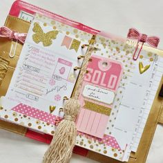 Gold Color Crush Planner::Anabelle O'Malley