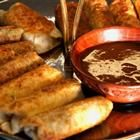 Cheesesteak Egg Rolls - use rice paper spring roll wrappers instead.