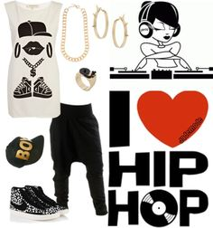 A fashion look from March 2013 featuring River Island tops, NIKE sneakers and Miss Selfridge earrings. Browse and shop related looks. Hip Hop Fashion, Tomboy Fashion, 80s Fashion, Hip Hop Outfits, Dance Outfits, Cute Outfits, Hip Hop Dance, Hip Hop Rap, Love N Hip Hop