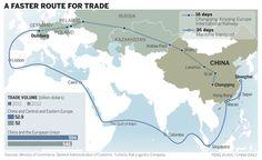titel: Een nieuwe zijderoute bron: geobronnen.com datum: 19 februari plaats: China