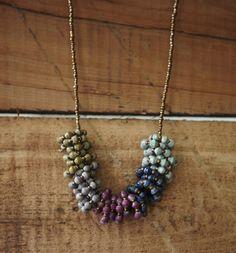 31bits orchid loop necklace