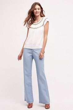 Pilcro Chambray Trousers #anthropologie