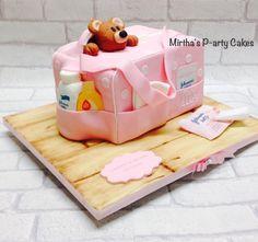 Mirtha's P-arty Cakes Art Cakes, Cake Art, Unique Cakes, Creative Cakes, Beautiful Cakes, Amazing Cakes, Mom Cake, Baby Girl Cakes, Decorated Cakes