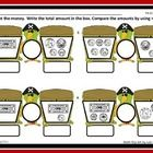 Use this worksheet as homework or to assess student understanding of counting the total amount of mixed coins/bills and comparing those amounts by ...