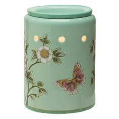 The splendor of spring comes alive with butterflies and blossoms inspired by vintage Chinese silk. Softly glowing porcelain.,,,