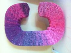 I chose the letter C and knit a cover for it.