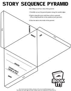 Printable 3d pyramid template color it cut it out fold for Story pyramid template