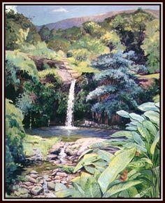 Puukaa Falls by Donald A. Jusko
