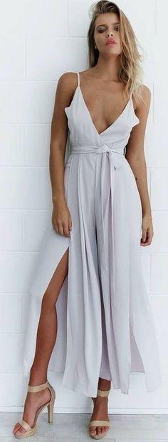 #summer #mishkahboutique #outfits | White Jumpsuit
