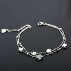 Bracelets for Women Star bracelet silver gift fashion Korean version of the double female Bracelets & Bangles