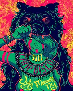 """A classic """"neon native"""" design by 'jessicafisher' for the Camp Bisco contest that's ending next week!"""