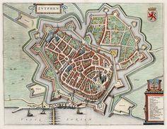 Dit is Zutphen in de Middeleeuwen! Zutphen wordt ook wel Torenstad genoemd vanwege zijn grote, historische gebouwen die de skyline vormen van de stad. Als je tegenwoordig door Zutphen loopt waan je je er met verschillende musea, hofjes en andere bezienswaardigheden bijna in de Middeleeuwen!