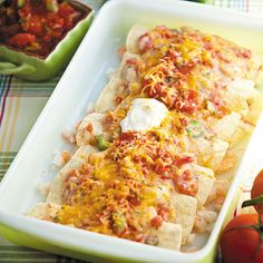 Feed the whole family with these Seafood Enchiladas that are quick, easy and a true crowd-pleaser.
