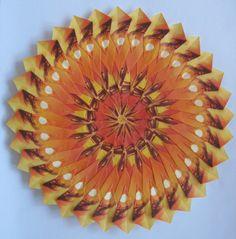 Mandala gemaakt van Pickwick Rooibos theezakjes