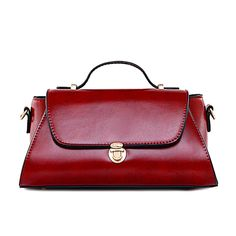 2017 NEW Classical solid red color Lock bags women PU leather shoulder bag Vintage crossbody bags Ladies Bag bolsos sac a main